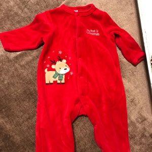 NWOT Baby's First Christmas Reindeer Onesie